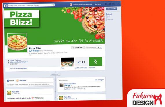 Facebook Pizzeria Seite