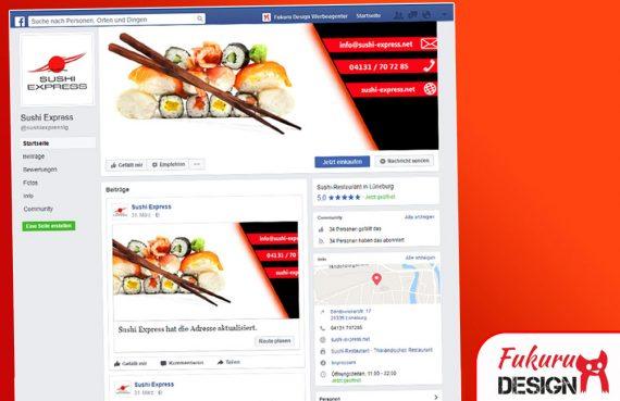 Facebook SushiExpress Restaurant Seite