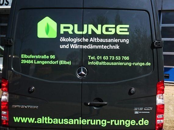 Runge Altbau Folierung Transporter