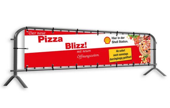Banner für Pizzeria