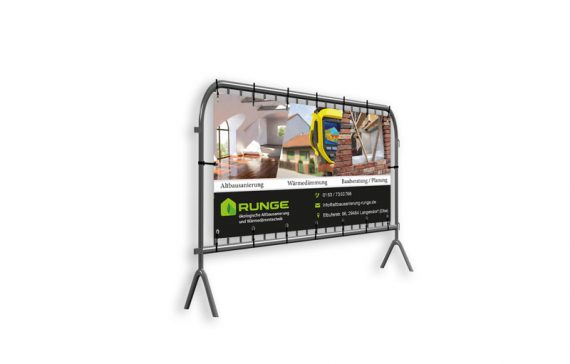 Banner für Bauunternehmen - sehr robust und ansprechend gestaltet
