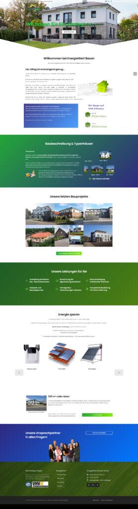 Onepager Bauunternehmen
