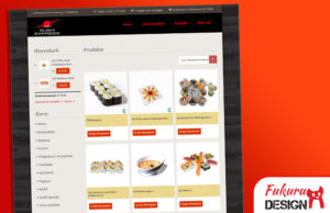 Website Sushi Express Onlineshop