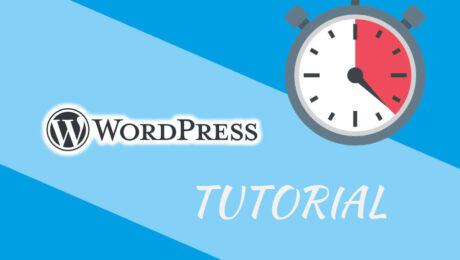 Wordpress Uhrzeit / Datum einstellen