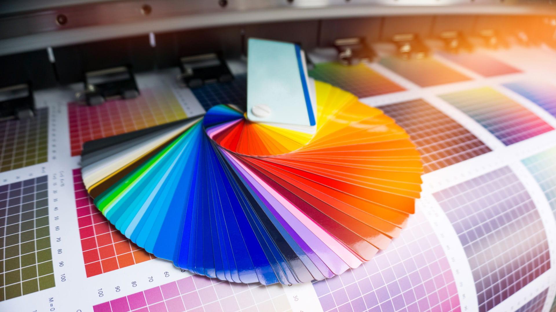 Farbfächer und Druckabnahme Print