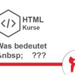 Geschütztes Leerzeichen HTML